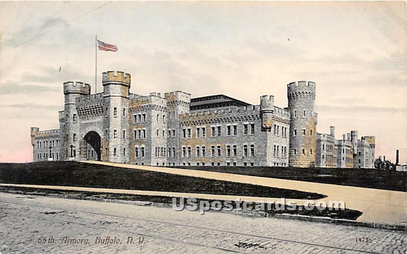 65th Armory - Buffalo, New York NY Postcard