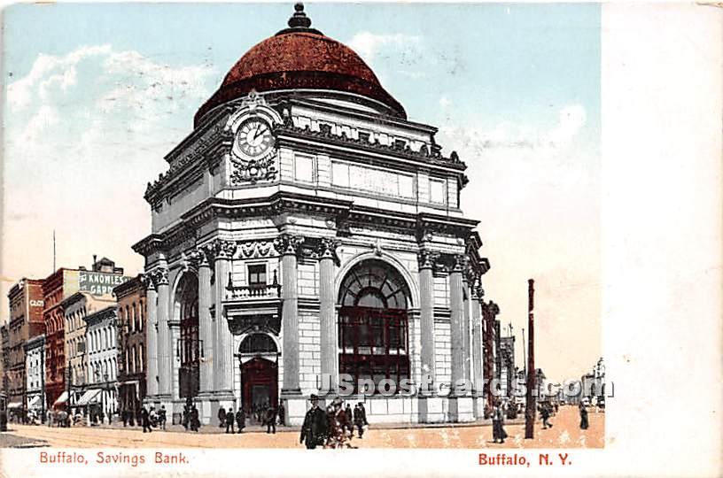 Buffalo Savings Bank - New York NY Postcard