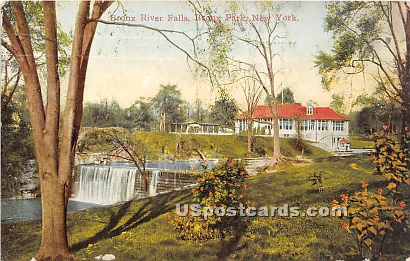 Bronx River Falls - New York NY Postcard