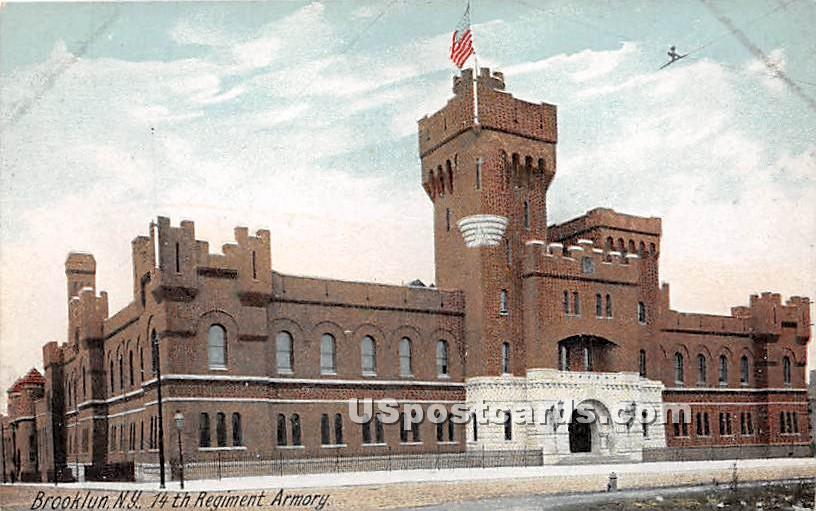 14th Regiment Armory - Brooklyn, New York NY Postcard