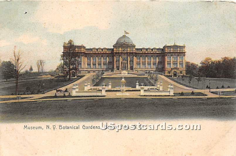 Museum, NY Botanical Gardens - Bronx, New York NY Postcard