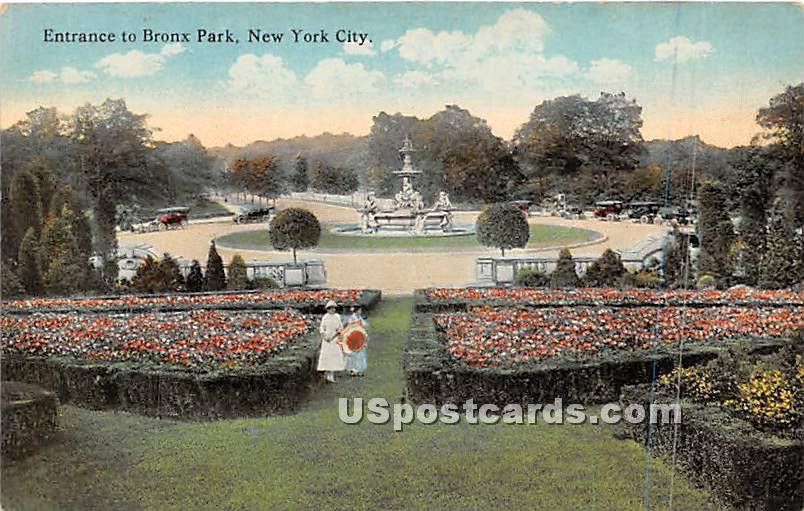 Bronx Park - New York NY Postcard