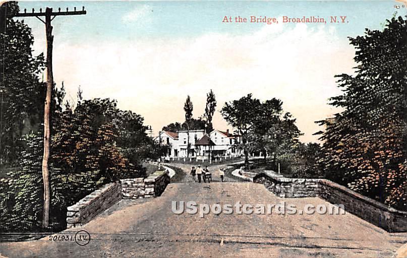 Bridge - Broadalbin, New York NY Postcard