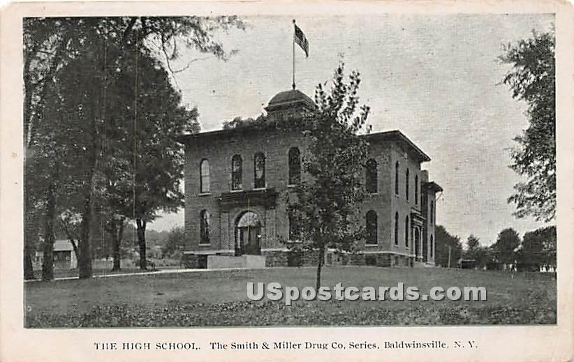 High School - Baldwinsville, New York NY Postcard