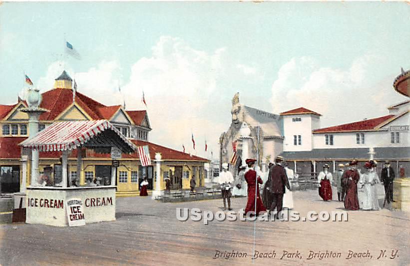 Brighton Beach Park - New York NY Postcard