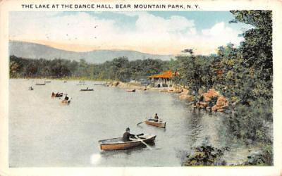 Lake at the Dance Hall Bear Mountain, New York Postcard