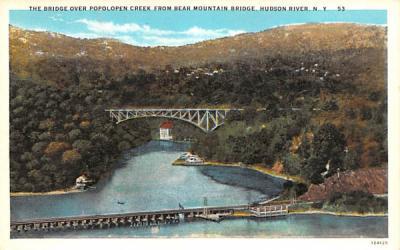 Bridge over Popolopen Creek Bear Mountain, New York Postcard