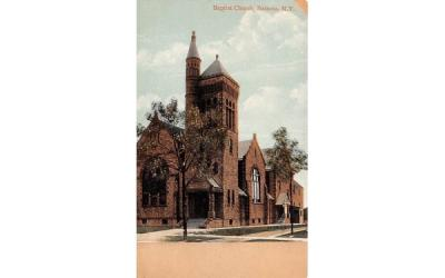 Baptist Church Batavia, New York Postcard