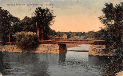 Bridge over the Worromntogus Steam Batavia, New York Postcard