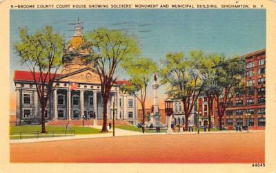 Broome County Court House Binghamton, New York Postcard