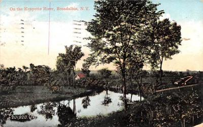 Kenyetto River Broadalbin, New York Postcard