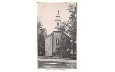 Baptist Church Broadalbin, New York Postcard