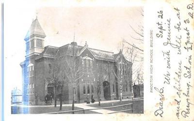 Brocton High School Building New York Postcard