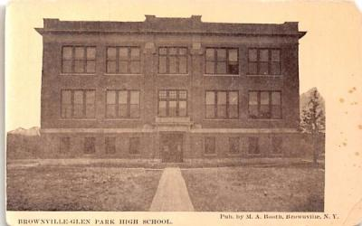 Brownville Glen Park High School New York Postcard