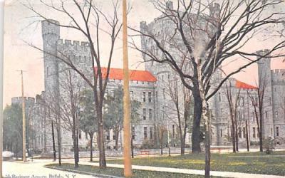 74th Regiment Armory Buffalo, New York Postcard