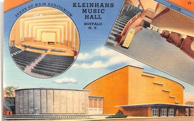 Kleinhans Music Hall Buffalo, New York Postcard