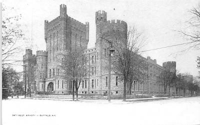 74th Regiment Armory Buffalo, New York Postcard