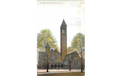 1st Presbyterian Church Buffalo, New York Postcard
