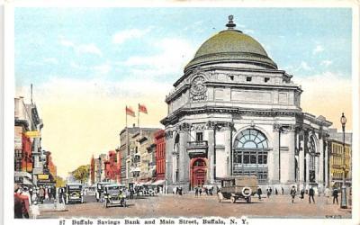 Buffalo Savings Bank New York Postcard