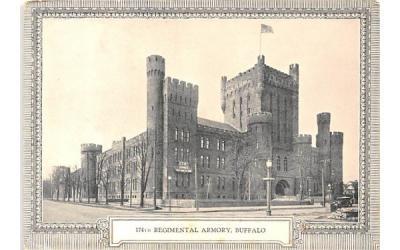174th Regimental Armory Buffalo, New York Postcard