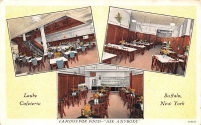 Laube Cafeteria Buffalo, New York Postcard