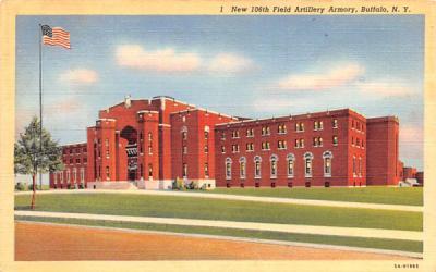 New 106th Field Artillery Armory Buffalo, New York Postcard