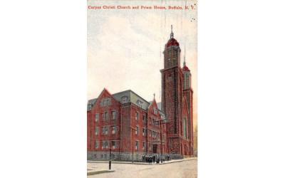 Corpus Christi Church & Priest House Buffalo, New York Postcard