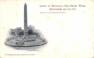 McKinley Monument Buffalo, New York Postcard