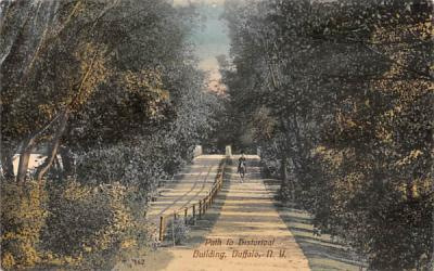 Path to Historical Building Buffalo, New York Postcard