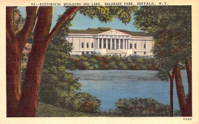 Historical Building & Lake Buffalo, New York Postcard