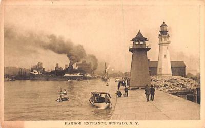 Harbor Entrance Buffalo, New York Postcard