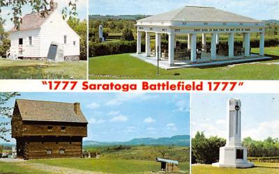 1777 Saratoga Battlefield Bemis Heights, New York Postcard