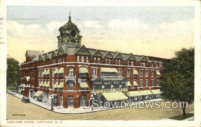 Cortland House - New York NY Postcard