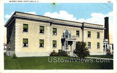Nurses Home - Cortland, New York NY Postcard