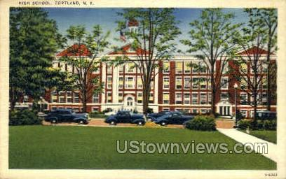 High School - Cortland, New York NY Postcard