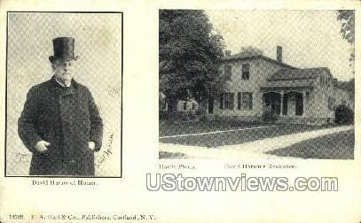 David Harum of Homer - Cortland, New York NY Postcard