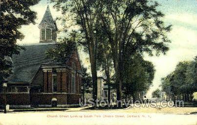 Church - Cortland, New York NY Postcard