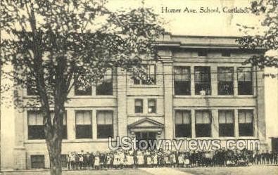 Homer Ave School - Cortland, New York NY Postcard