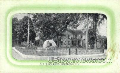 D.A.R. Boulder - Cortland, New York NY Postcard