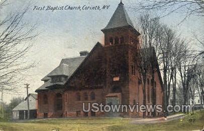 Baptist Church - Corinth, New York NY Postcard