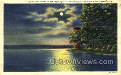 Miller Bell Tower - Chautauqua, New York NY Postcard
