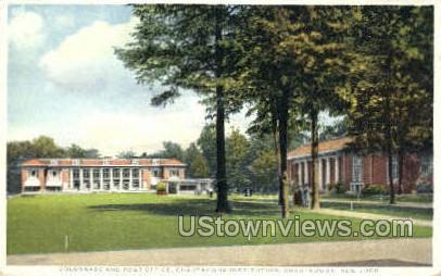 Post Office - Chautauqua, New York NY Postcard