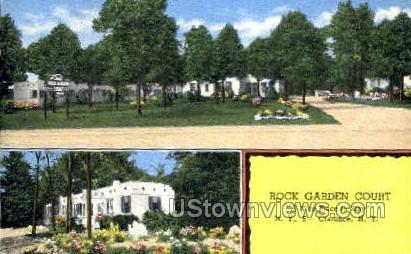 Rock Garden Court - Clarence, New York NY Postcard
