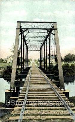 Traction Bridge - Cortland, New York NY Postcard