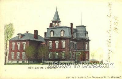 High School - Chateaugay, New York NY Postcard
