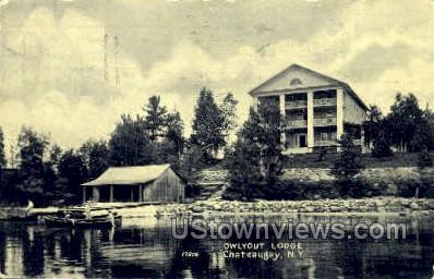 Owlyout Lodge - Chateaugay, New York NY Postcard