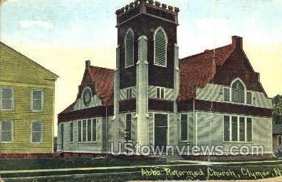 Abbe Reformed Church - Clymer, New York NY Postcard