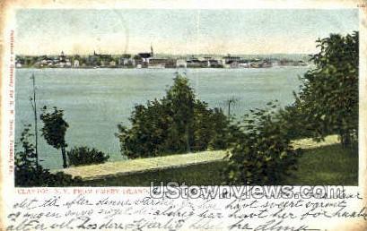 Emery Island - Clayton, New York NY Postcard