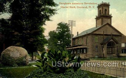 American Revolution Boulder - Cortland, New York NY Postcard