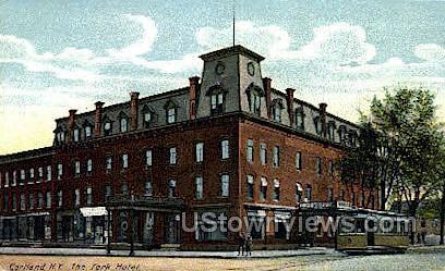 The York Hotel - Cortland, New York NY Postcard